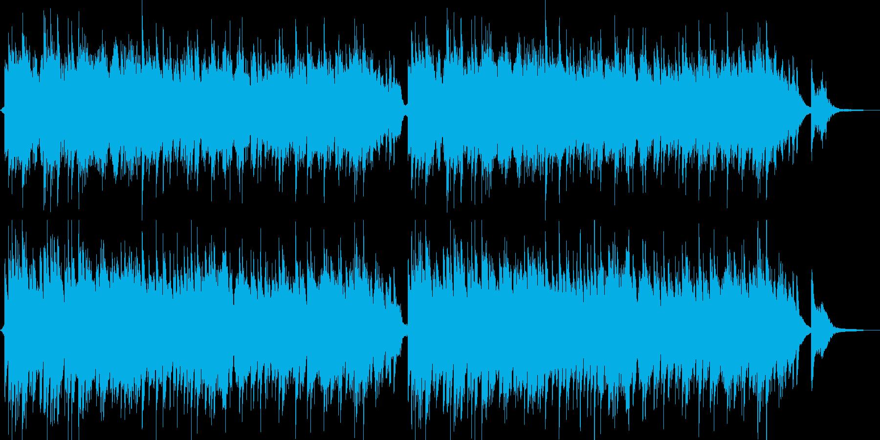 やさしい幻想的なピアノ曲の再生済みの波形