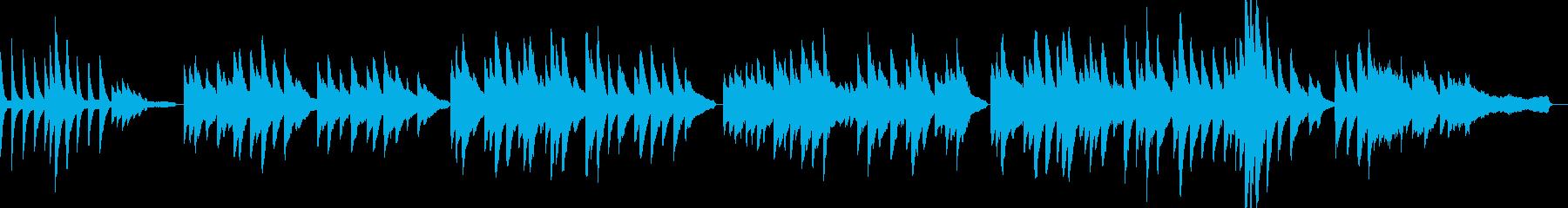 「ふるさと」ピアノアレンジ リバーブなしの再生済みの波形