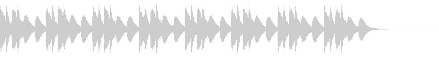 マリンバ 緊張 不穏 不気味 ホラーの未再生の波形