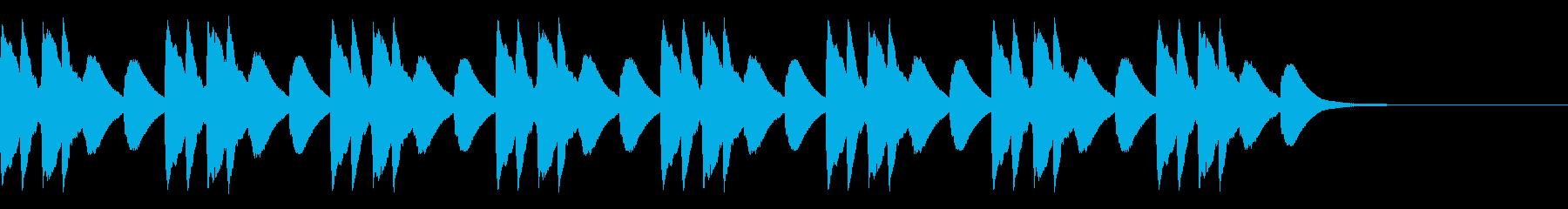 マリンバ 緊張 不穏 不気味 ホラーの再生済みの波形