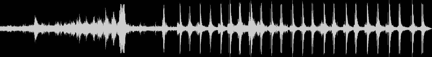 ジェットコースタートラックロックの未再生の波形