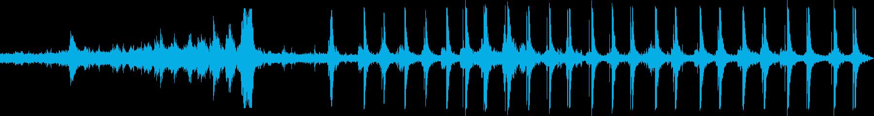 ジェットコースタートラックロックの再生済みの波形