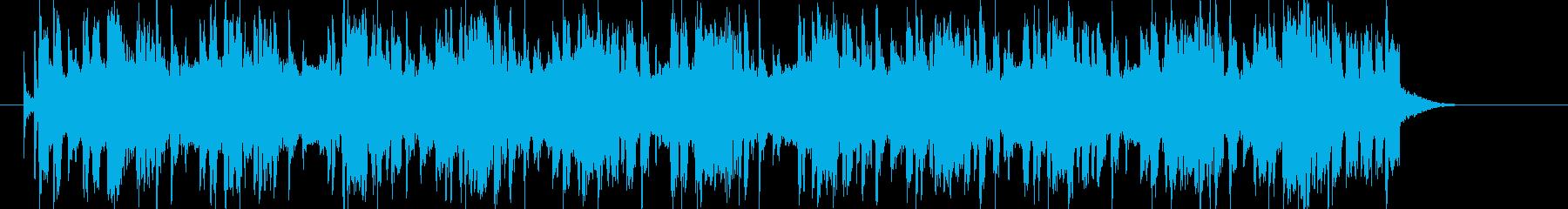 明るく軽やかなテクノポップの再生済みの波形