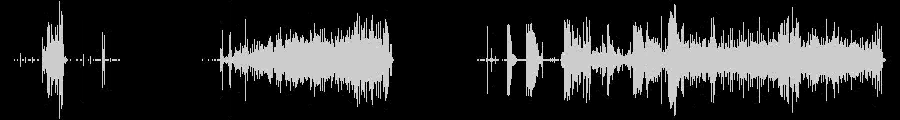 トランジション 擦れる音 11 の未再生の波形