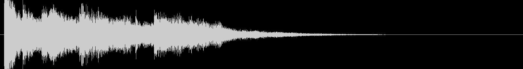 和風ジングルサウンドロゴ音戦国武士侍村の未再生の波形