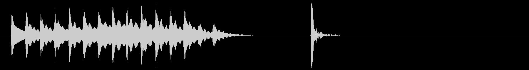 木琴~ポンッ!場面転換 アイキャッチ#5の未再生の波形