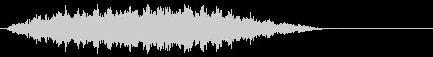 タロット占いのオープニング(神秘的な音)の未再生の波形