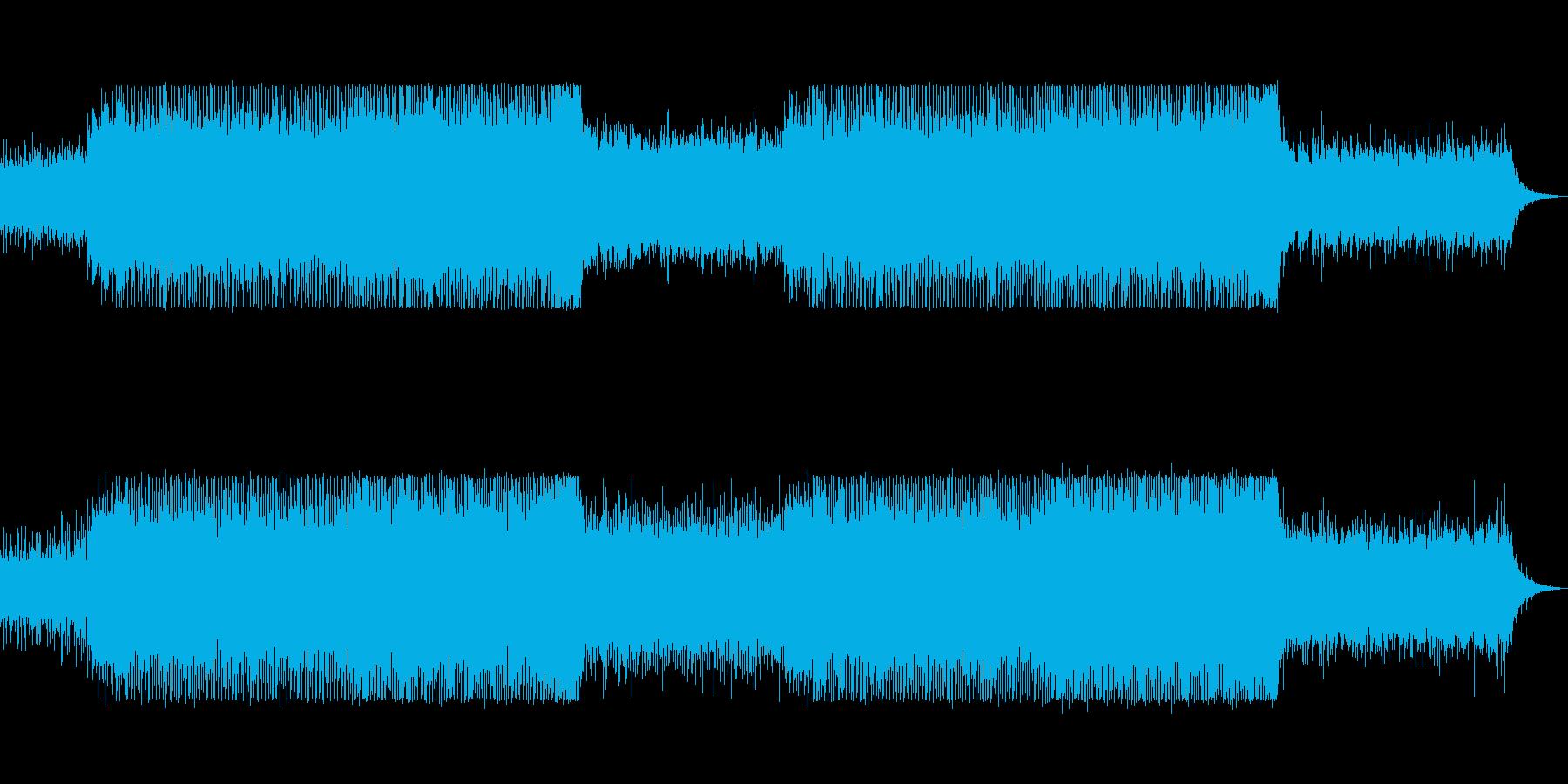 bpm133シンプルで地味なテクノの再生済みの波形