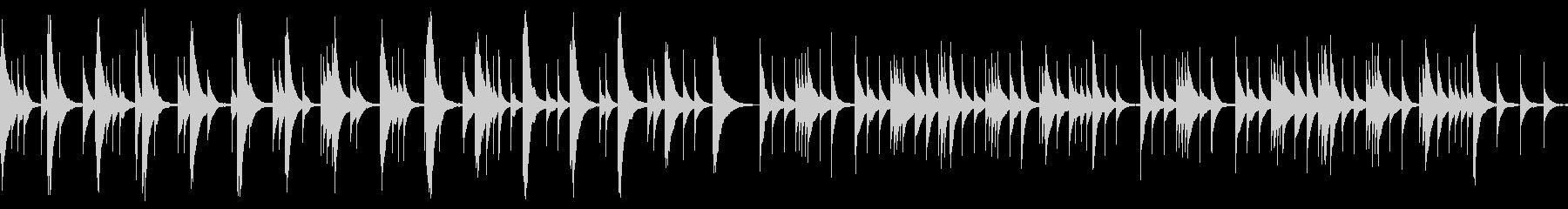 オルゴールの優しくてしんみりするBGMの未再生の波形