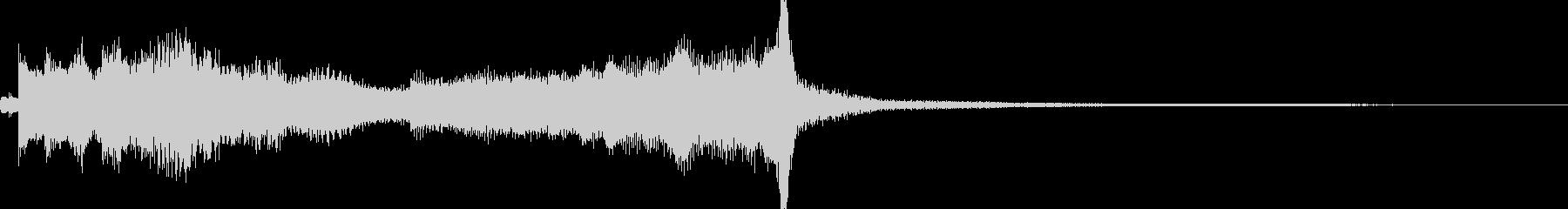 意気が沈むようなピアノジングルの未再生の波形