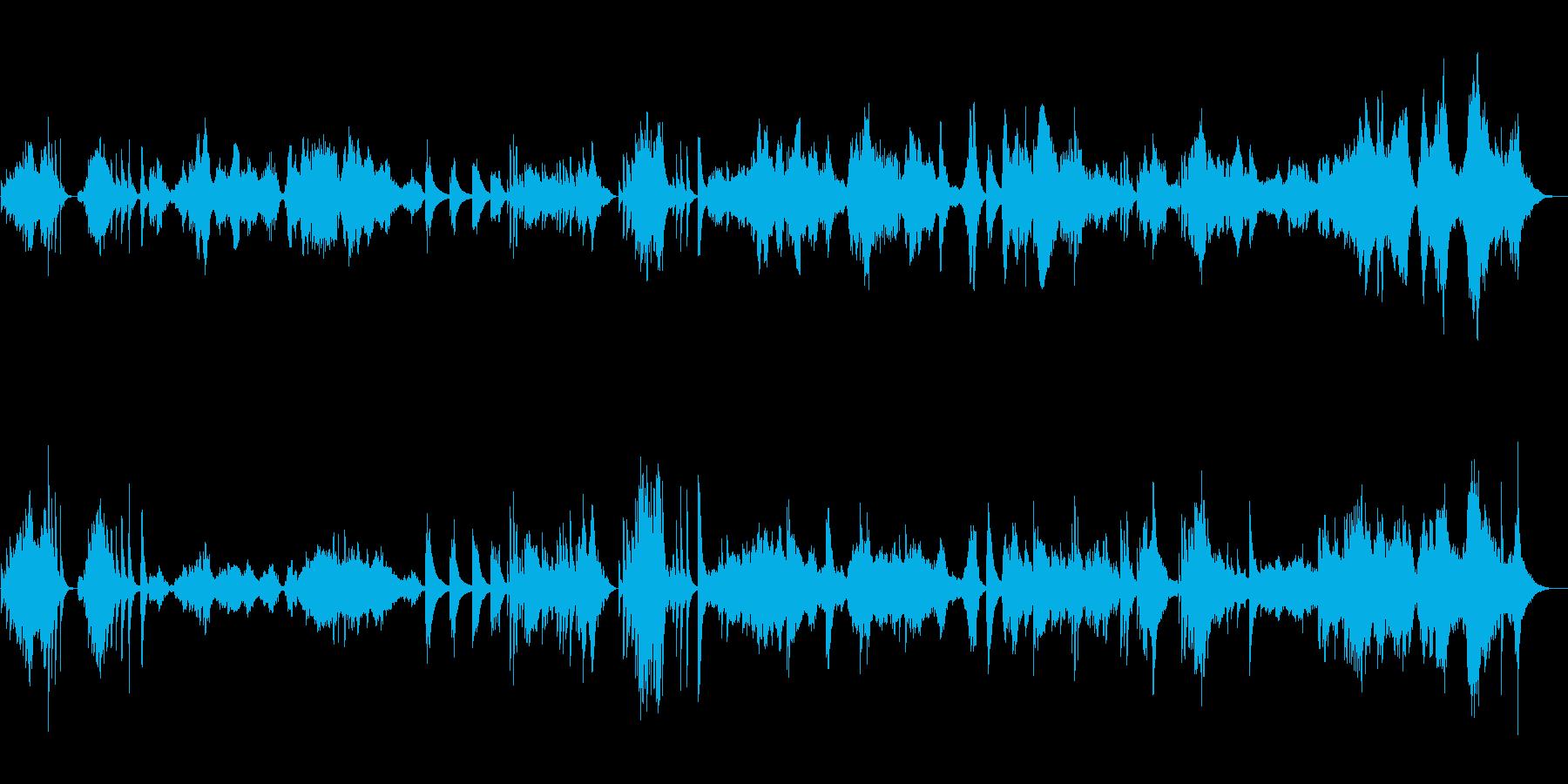 伝統的な日本風の楽曲の再生済みの波形