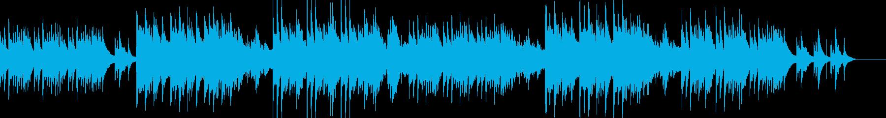 ストロベリームーンをイメージした和風曲の再生済みの波形