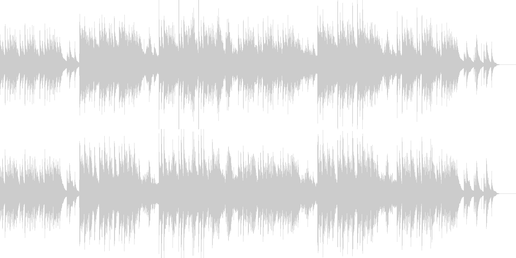 ストロベリームーンをイメージした和風曲の未再生の波形