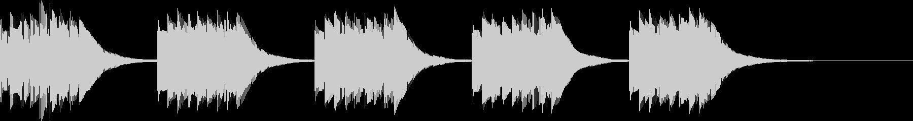 呼び出しベル タイマー音の未再生の波形