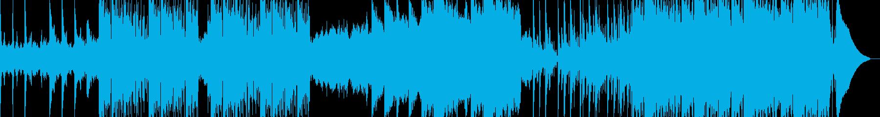 技術のある未来的な曲の再生済みの波形