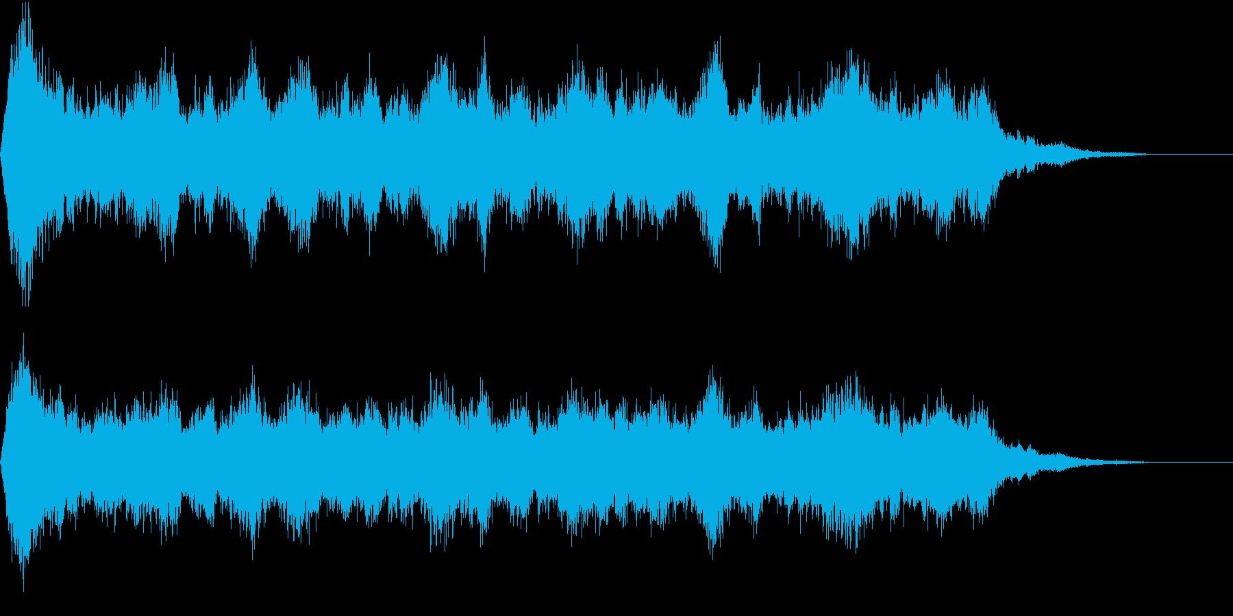 わーわーパニックでざわめく人だかり環境音の再生済みの波形