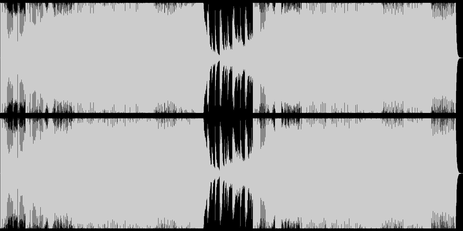 かっこいいスピード感あるEDMの未再生の波形