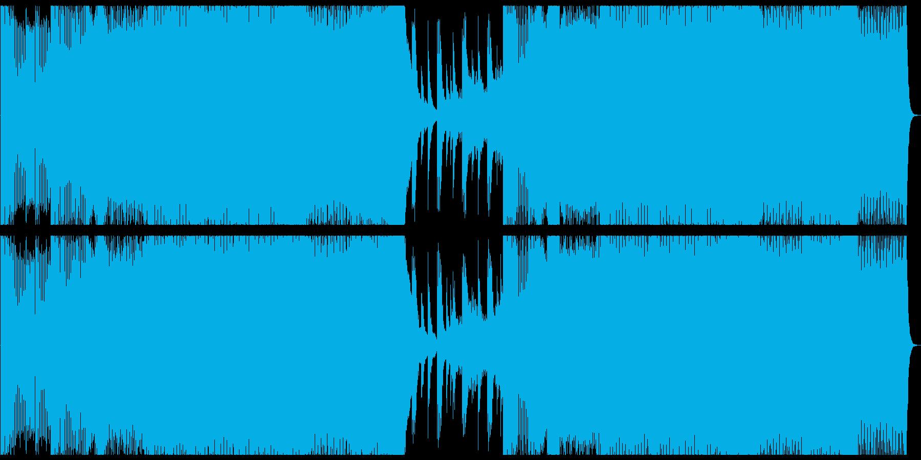 かっこいいスピード感あるEDMの再生済みの波形