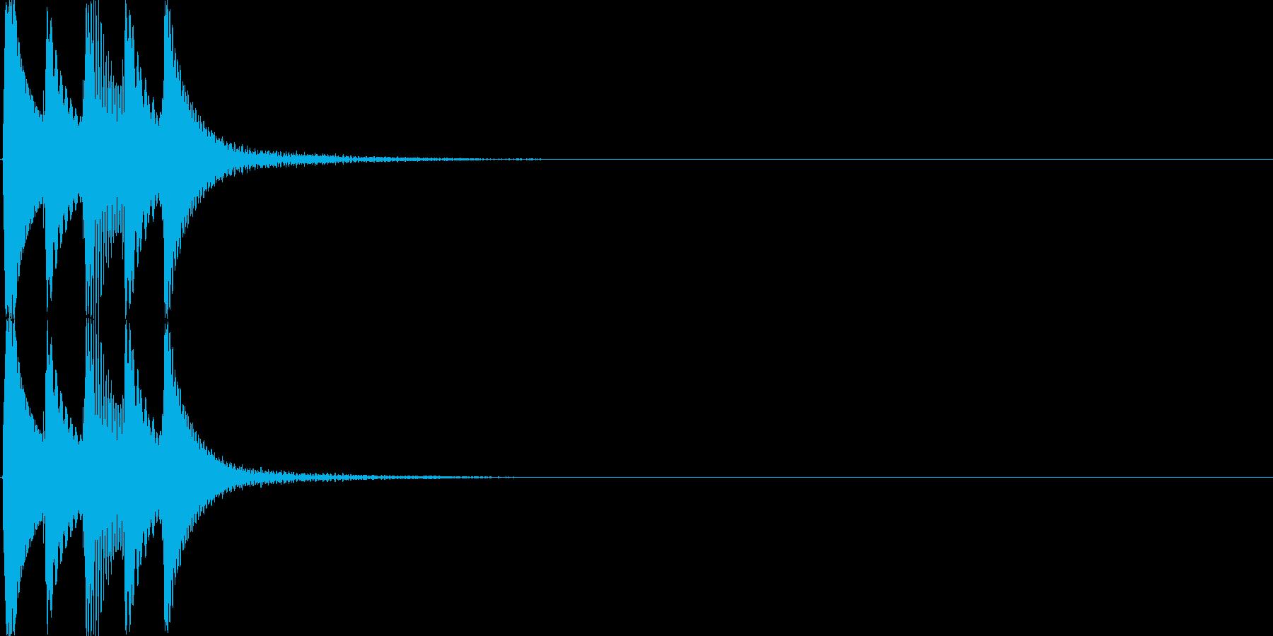 クリック(ゲーム、アプリ等の操作音03)の再生済みの波形