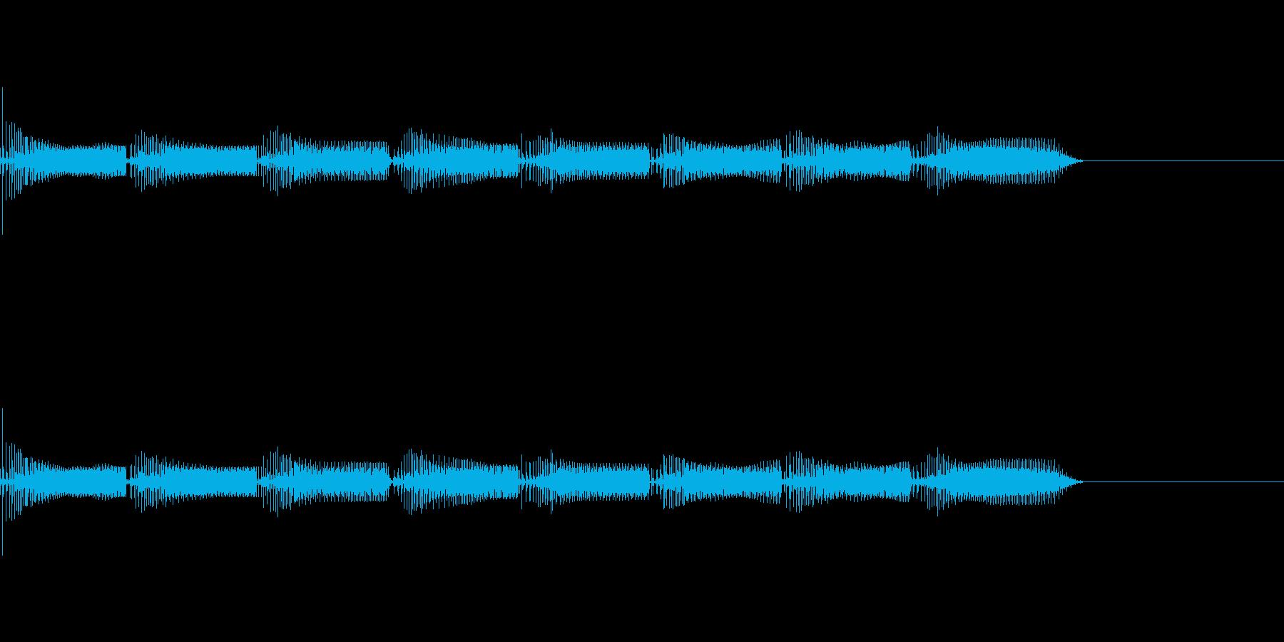 アラーム、警告音!の再生済みの波形