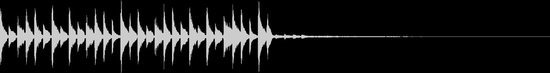 スローなトラップジングル6の未再生の波形