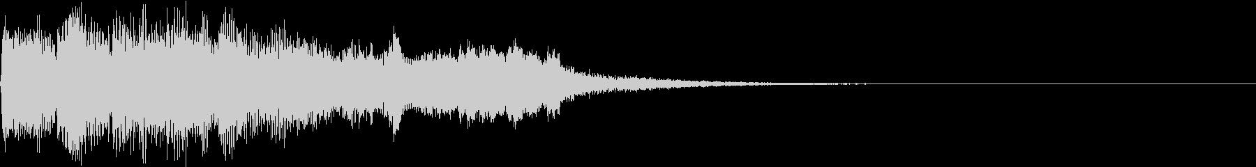 SE ポワーン クイズ出題前 上昇音 1の未再生の波形