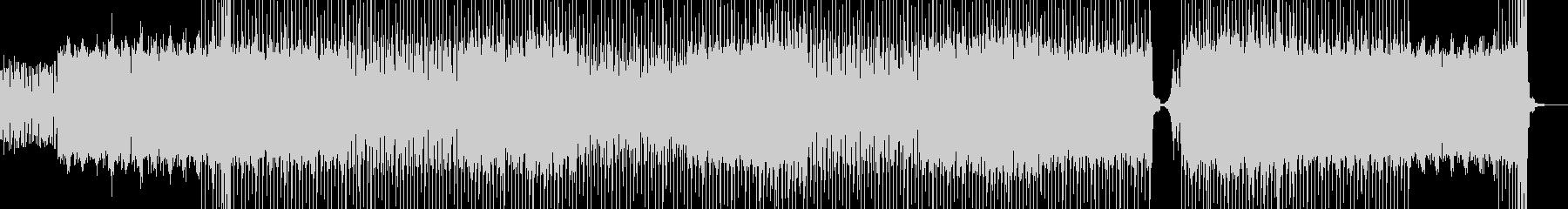トリッキーなフレーズの重厚なテクノの未再生の波形
