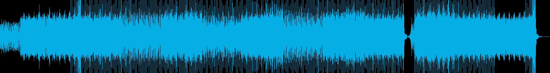 トリッキーなフレーズの重厚なテクノの再生済みの波形