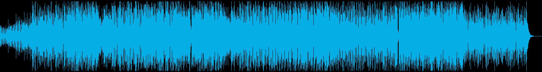 和太鼓と三味線の日本的で和風なロックの再生済みの波形