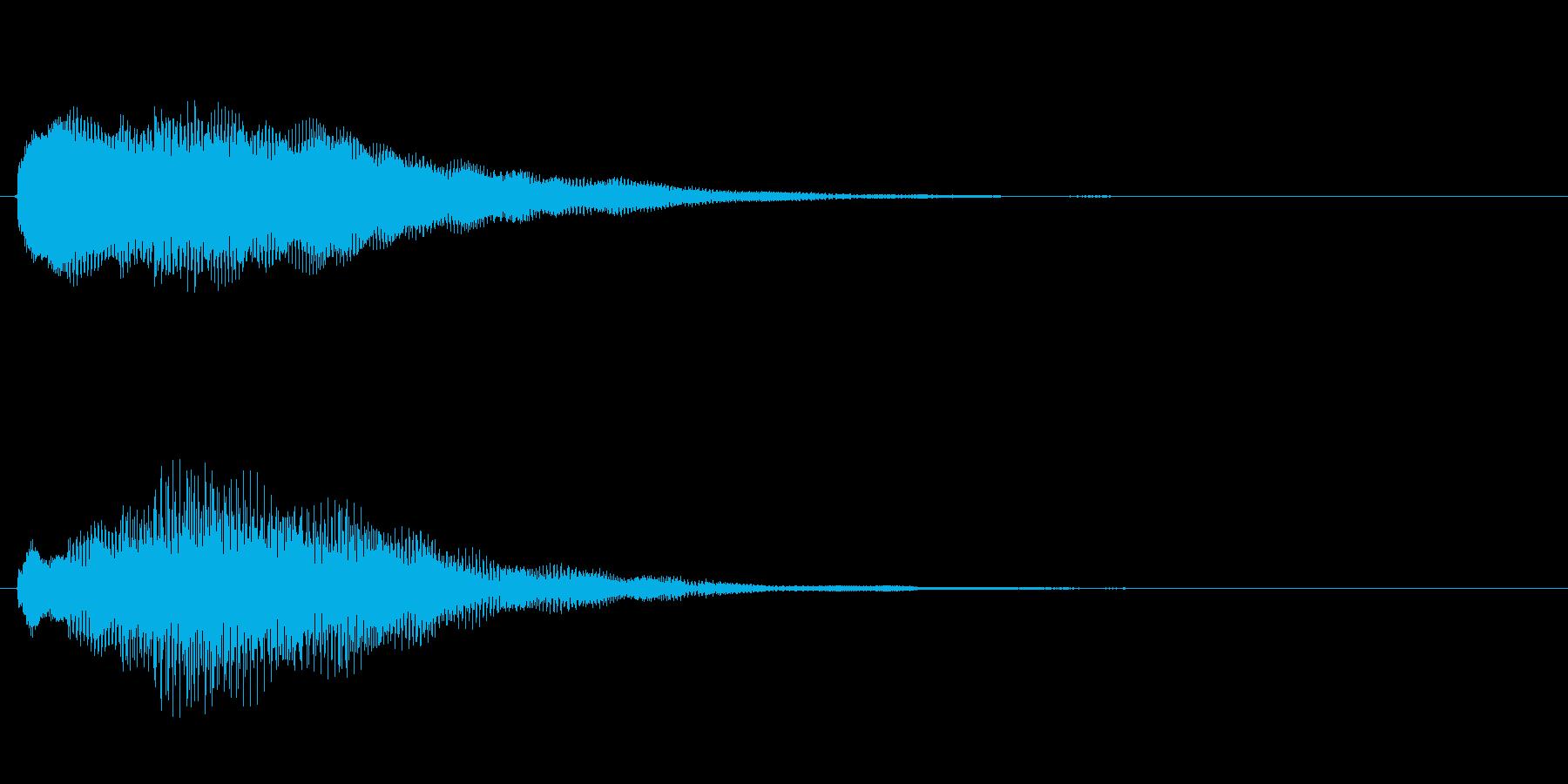 キラキラしたベルの上昇音3の再生済みの波形