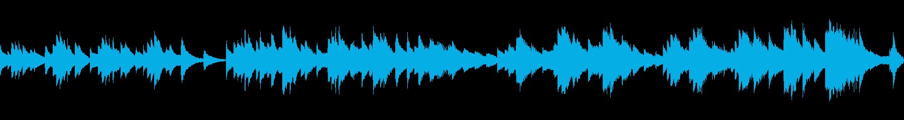 天気予報で流れてそうなループ曲の再生済みの波形