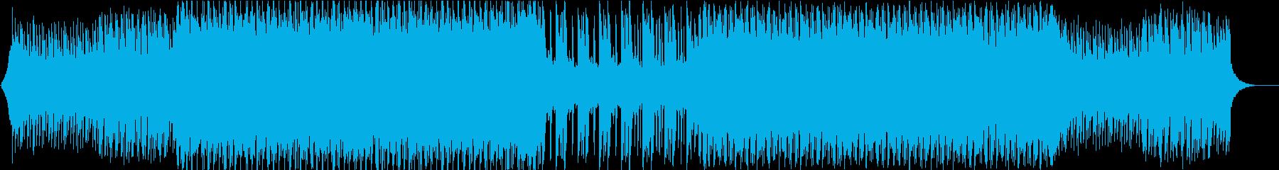 シンセサウンドが明るいテクノポップの再生済みの波形