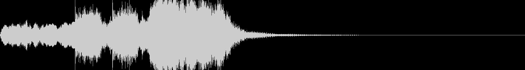 トランペットを含んだファンファーレの未再生の波形