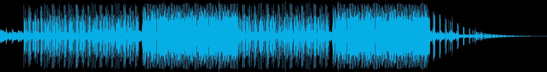 幻想的ギターlofiピアノトラップビートの再生済みの波形