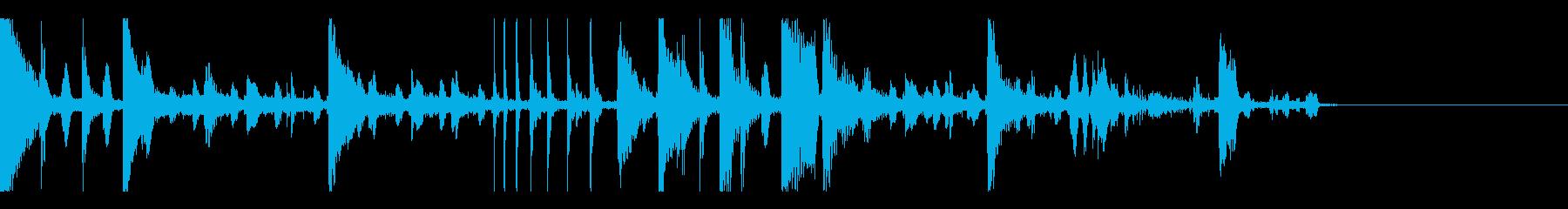バグった感じのシンキングタイムな音の再生済みの波形