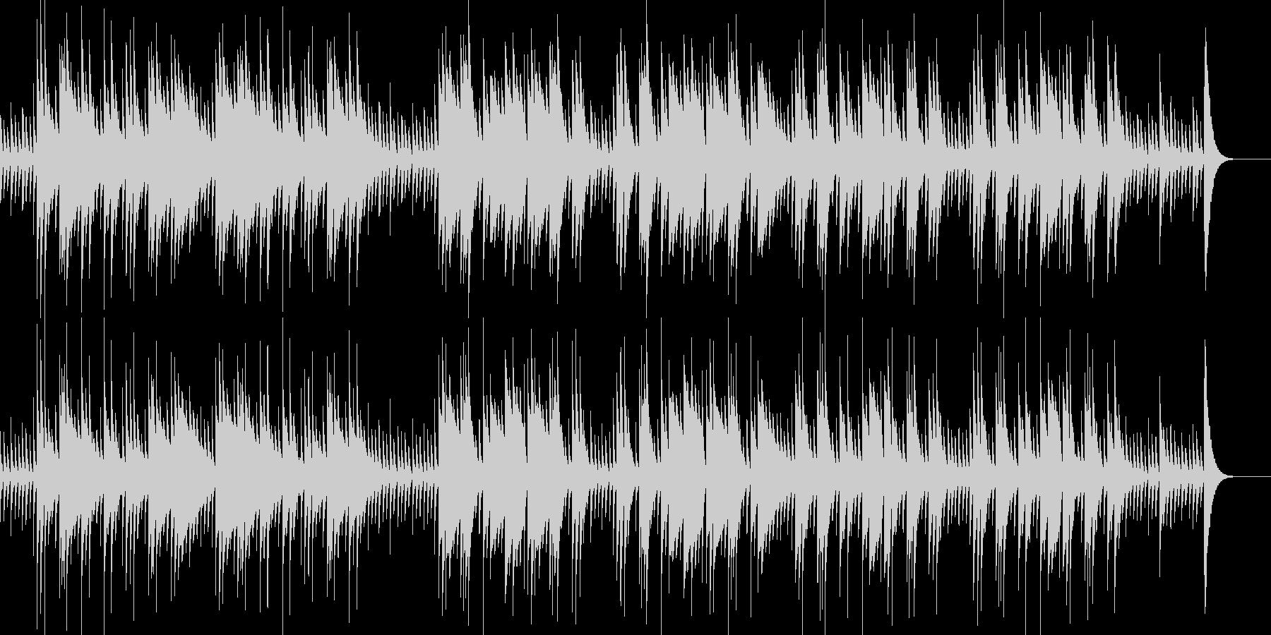 オルゴール調のアメイジング・グレイスの未再生の波形