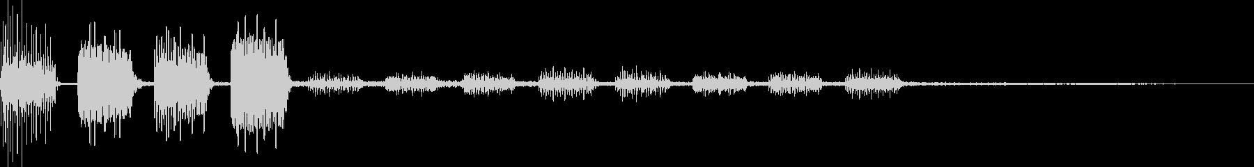 テロリラ(決定、アイテム、場面転換)の未再生の波形
