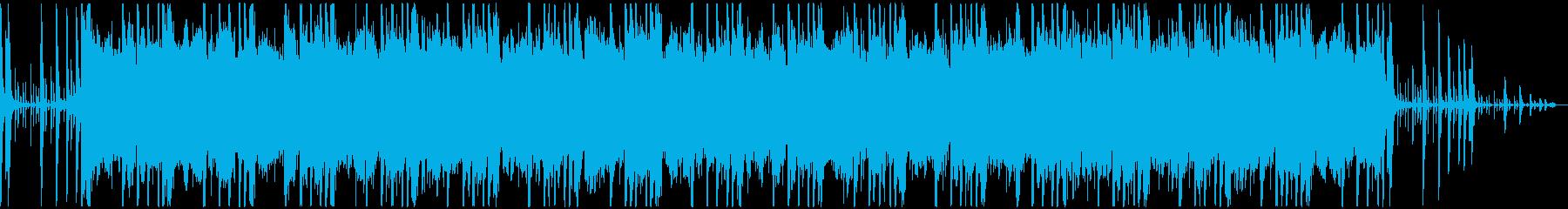 自然の風景に合うBGMの再生済みの波形