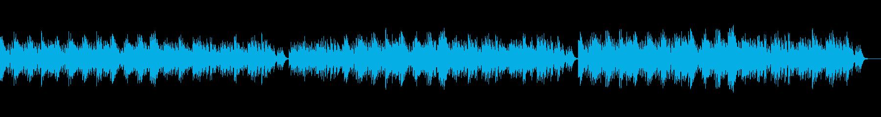 ハープとオルゴールを使って作った優しい曲の再生済みの波形