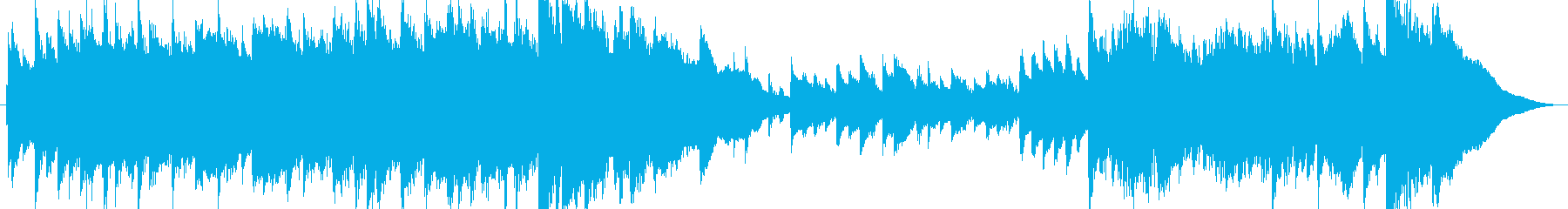 A beautiful piano's reproduced waveform