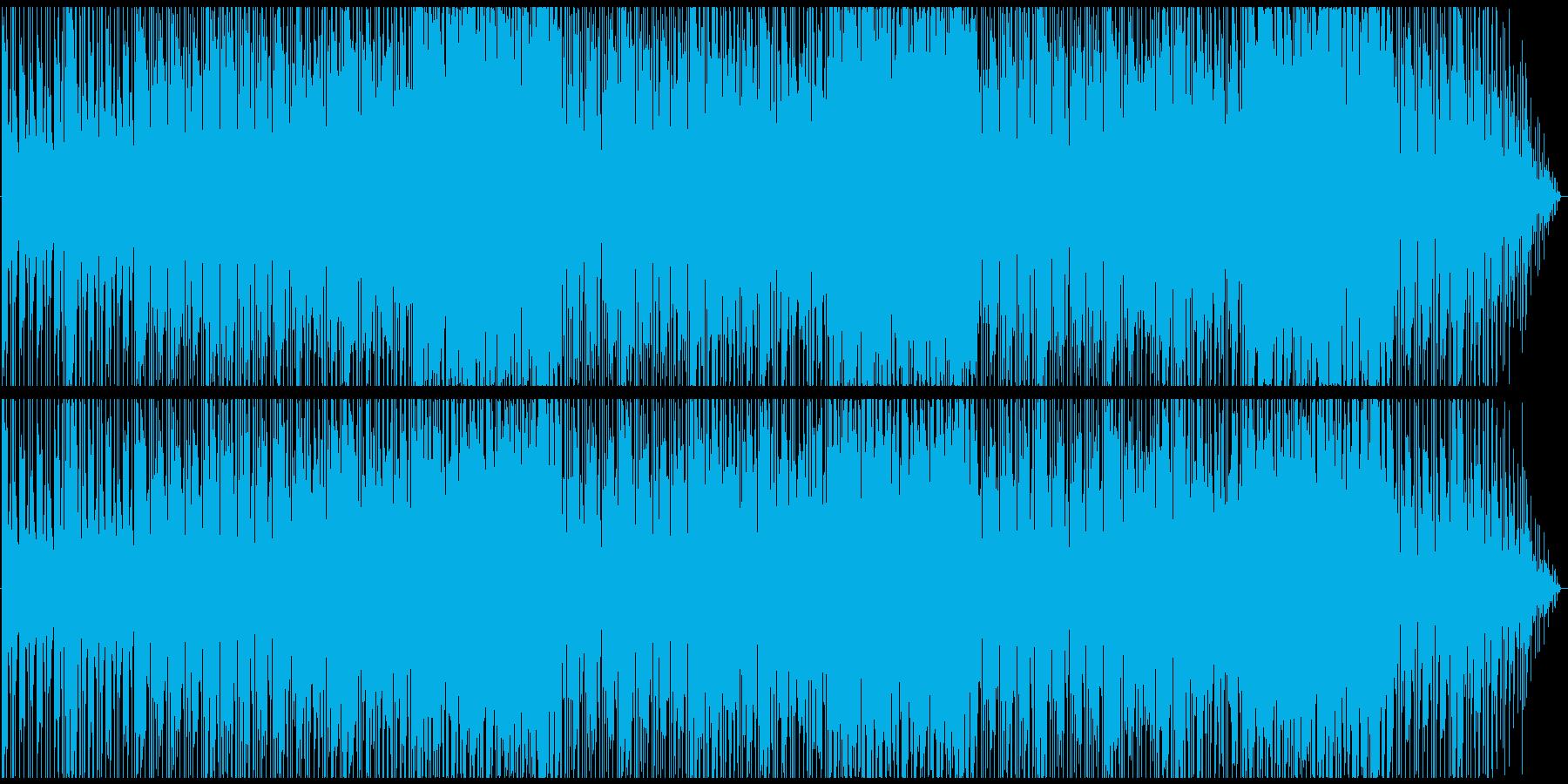 骨太っぽいロックなインスト曲の再生済みの波形