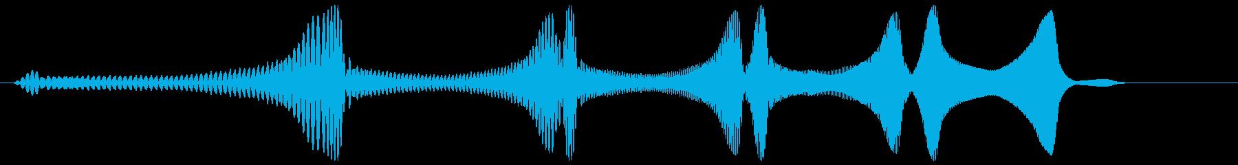 ワァワァワァーン(コミカル)の再生済みの波形
