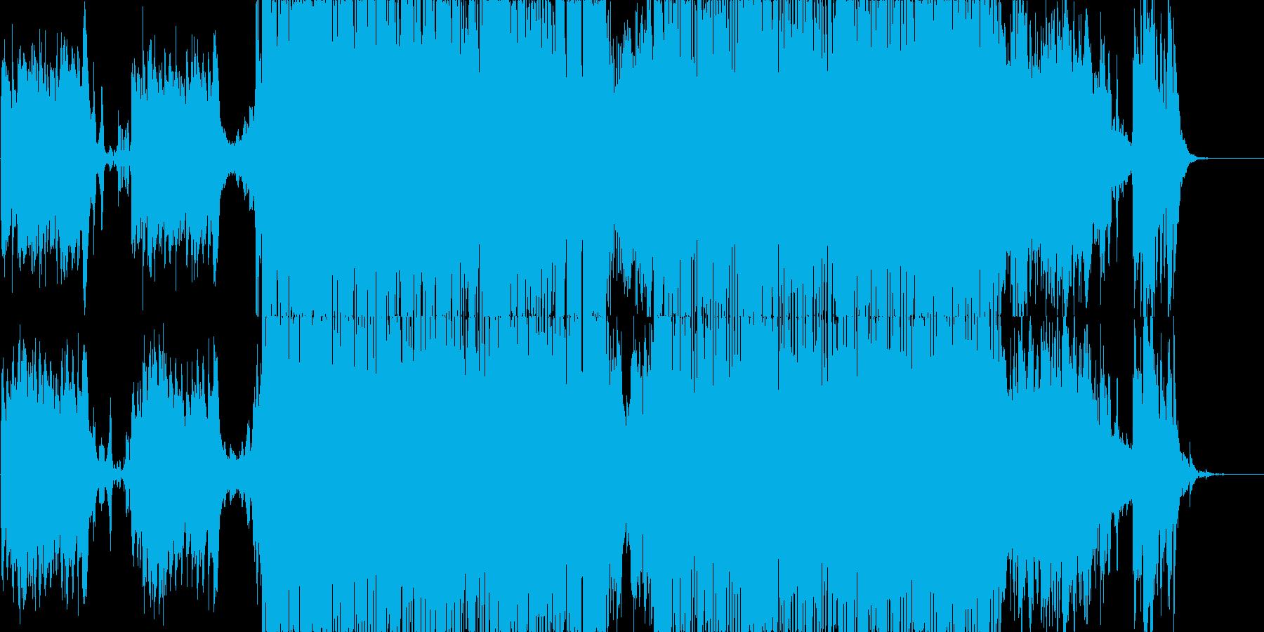 疾走感のあるエレクロトサウンドの再生済みの波形