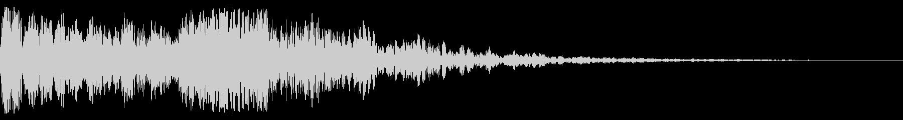 ハリウッド系 ド迫力ドラム ジングル01の未再生の波形