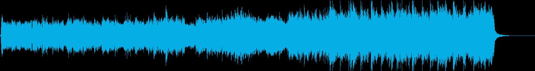 ドキュメンタリーOP風ロックバラード曲の再生済みの波形