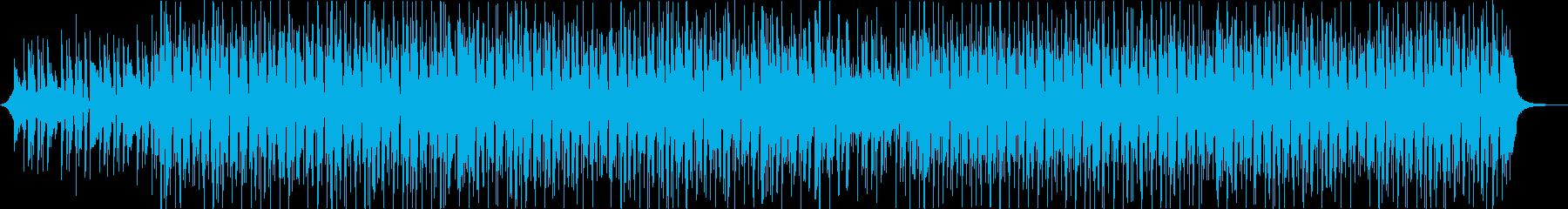 ギターウクレレパーカッションの軽いアコーの再生済みの波形