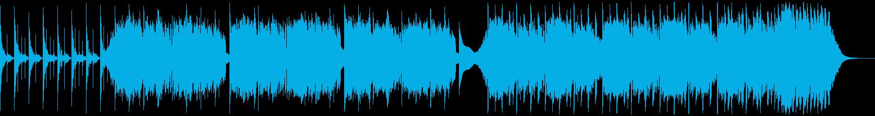 低音で変速な暗いアンビエントな曲の再生済みの波形