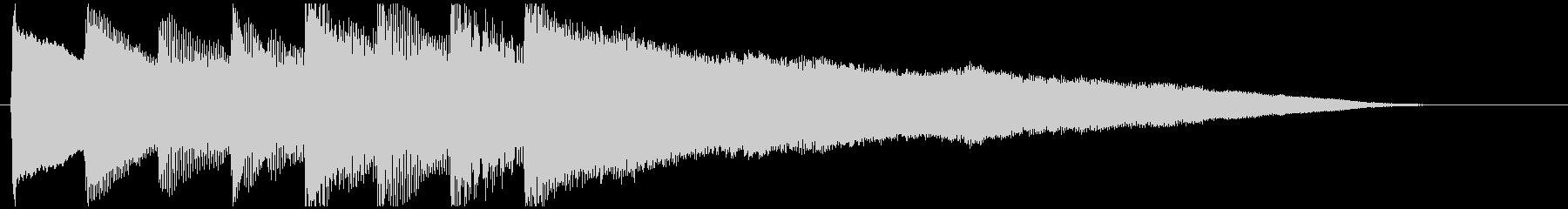 【ジングル/ロゴ】エスニック 鉄琴1の未再生の波形