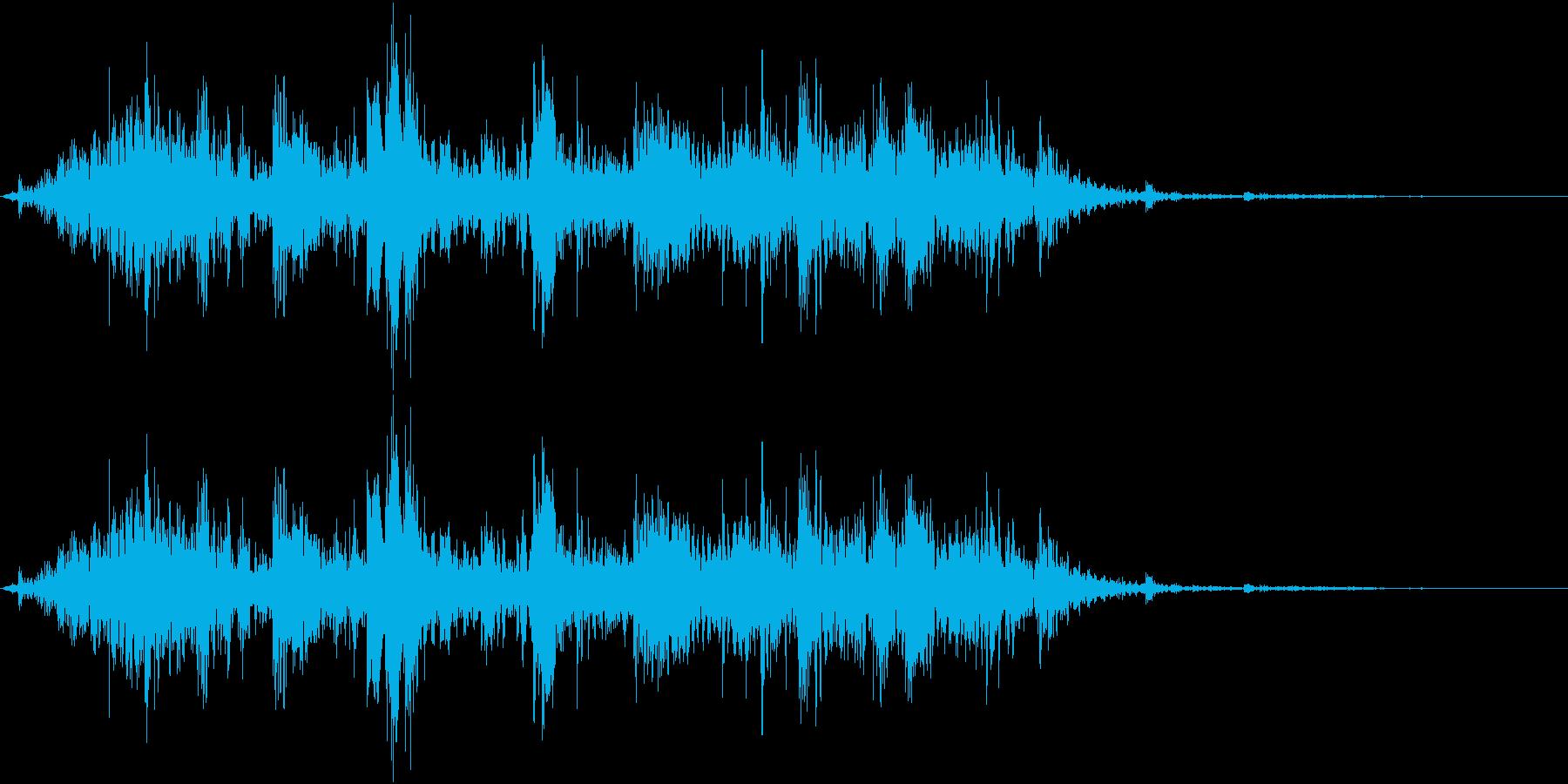 鎖を動かす音6【短い】の再生済みの波形