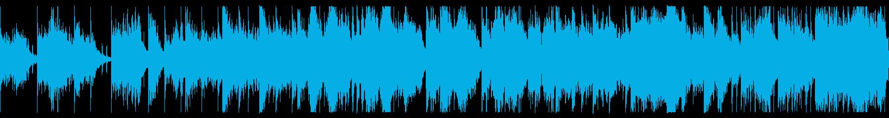 淡々としたダークな背景ループ 恐怖の演出の再生済みの波形